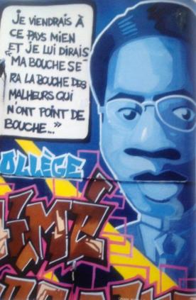 "Aime Césaire: I come to this country of mine and I say ""My mouth will be the mouth of the unfortunates who do not have the means to speak.""  Photo Credit: Audra A. Diptee."